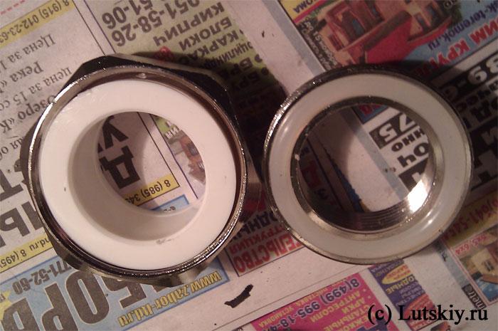 мелкий шаг резьбы - Муфты отопления американки полипропилен 40 на 32 металл