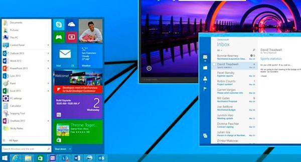В Windows 8 будет более привычная кнопка «Пуск». Microsoft показала новый вариант меню со встроенными плитками.