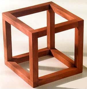 Невозможный куб Эшера в иллюзии Джерри Эндрюс (Jerry Andrus)