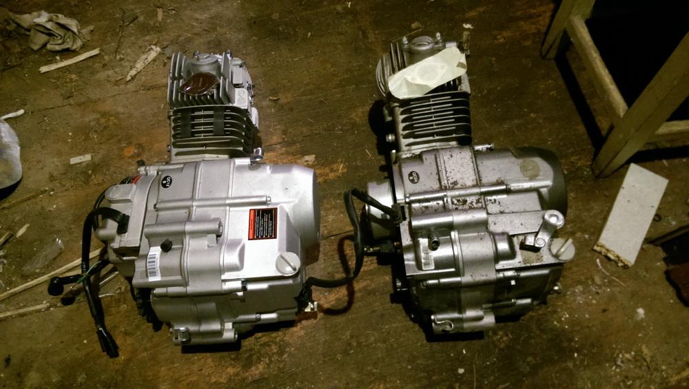 Установка на китайский питбайк KAYO CRF801-7L Classic другого двигателя с электростартером.